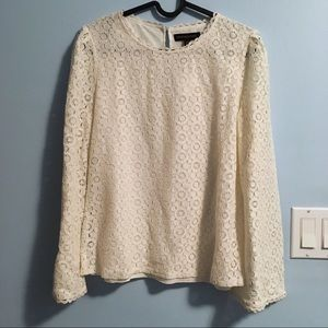 Banana Republic Fluted-Sleeve Lace Top (NWT)
